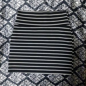 Striped Bodycon Miniskirt, Womens XS / Small